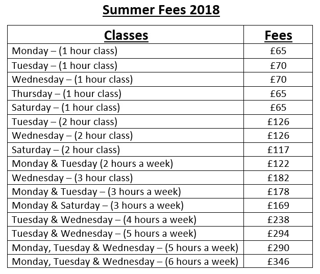 Summer 2017 fees pic
